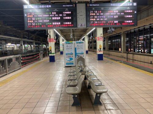 大宮駅の新幹線ホーム